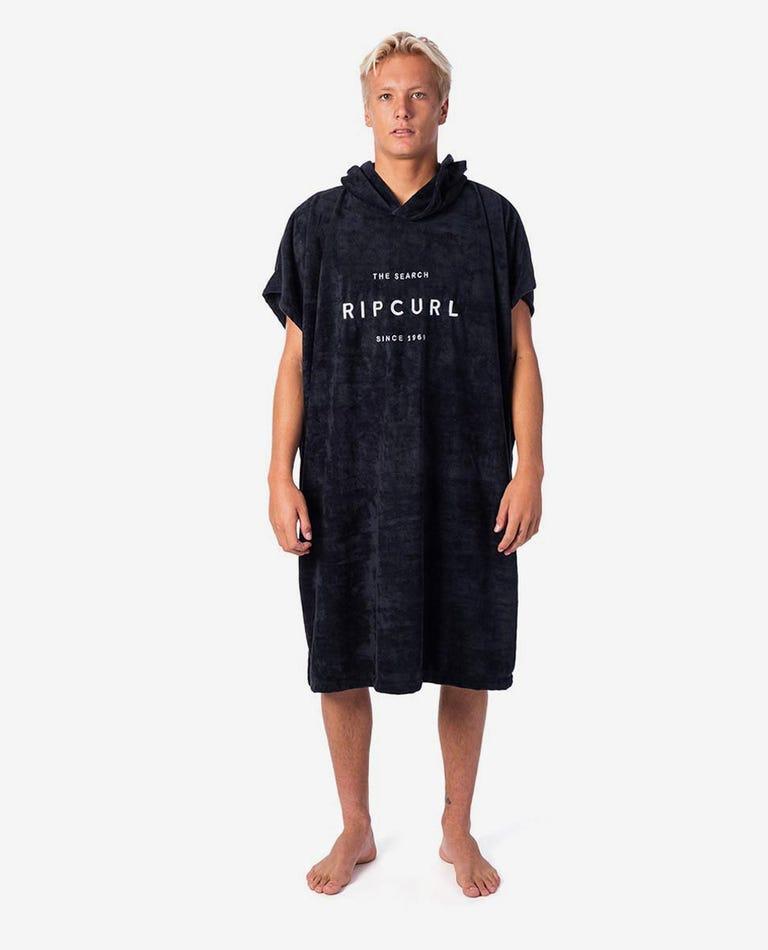 Valley Hooded Towel in Black