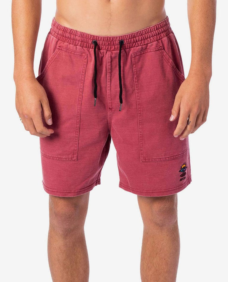 Reggae Rugby 18 Volley Short in Red