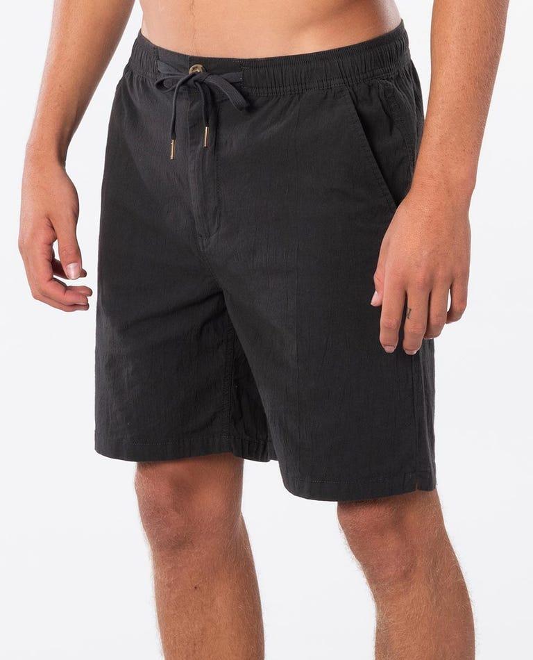 Ripple 19 Elastic Waist Walkshort in Washed Black