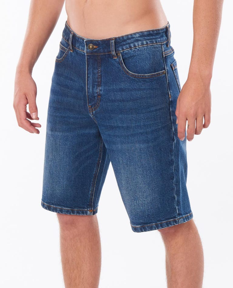 Tidal Blue 21 Denim Walkshort in Tidal Blue