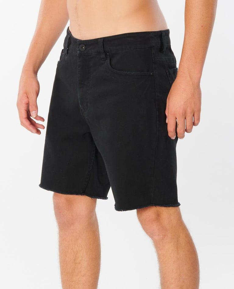 Faded Black 18 Walkshort in Washed Black