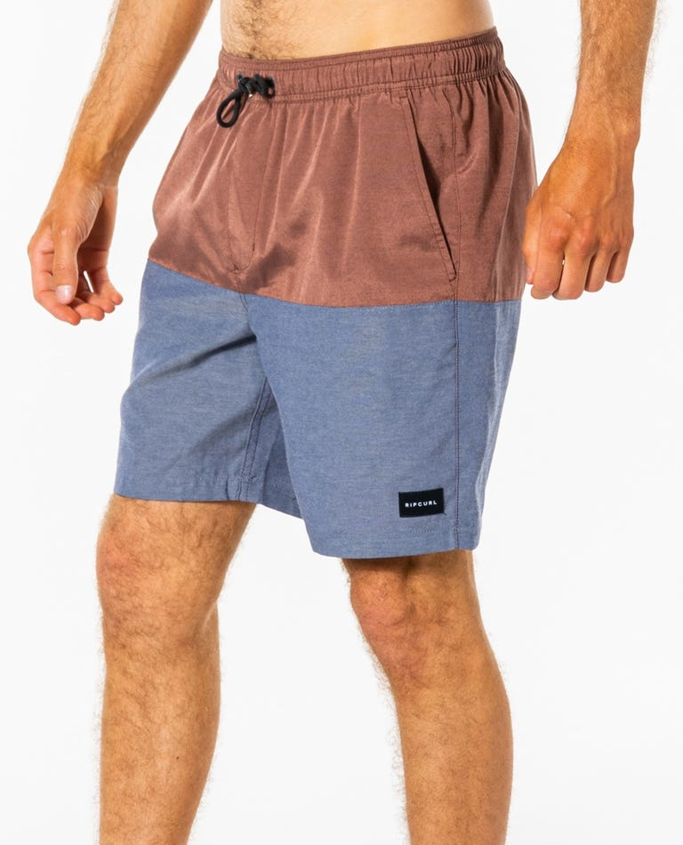 Block Volley Walkshorts in Washed Wine