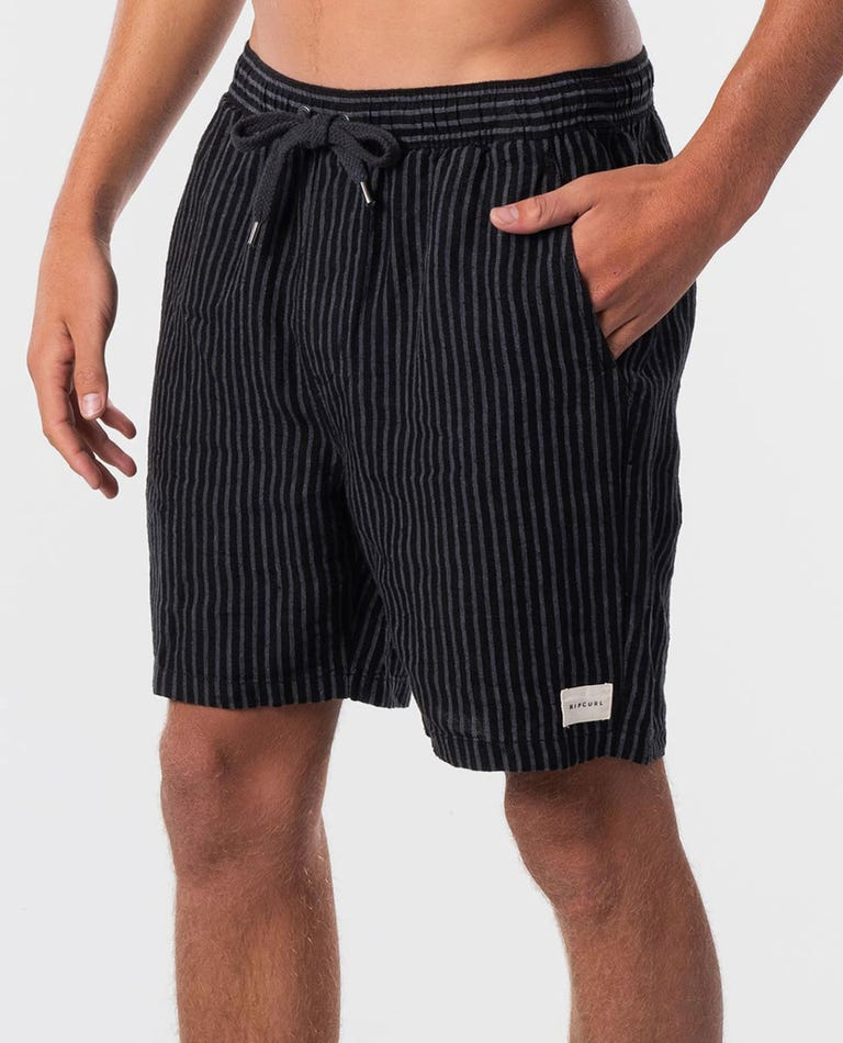 Laps 18 Elastic Walkshort in Black