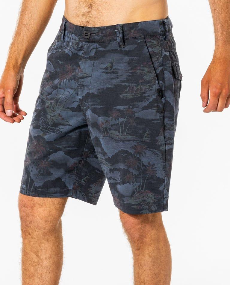 Dreamers Boardwalk Short in Charcoal Grey
