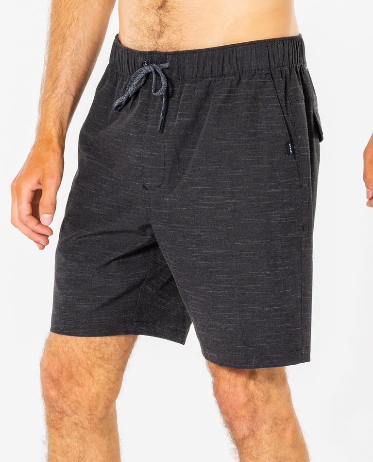 Jackson Volley Boardwalk Short in Black