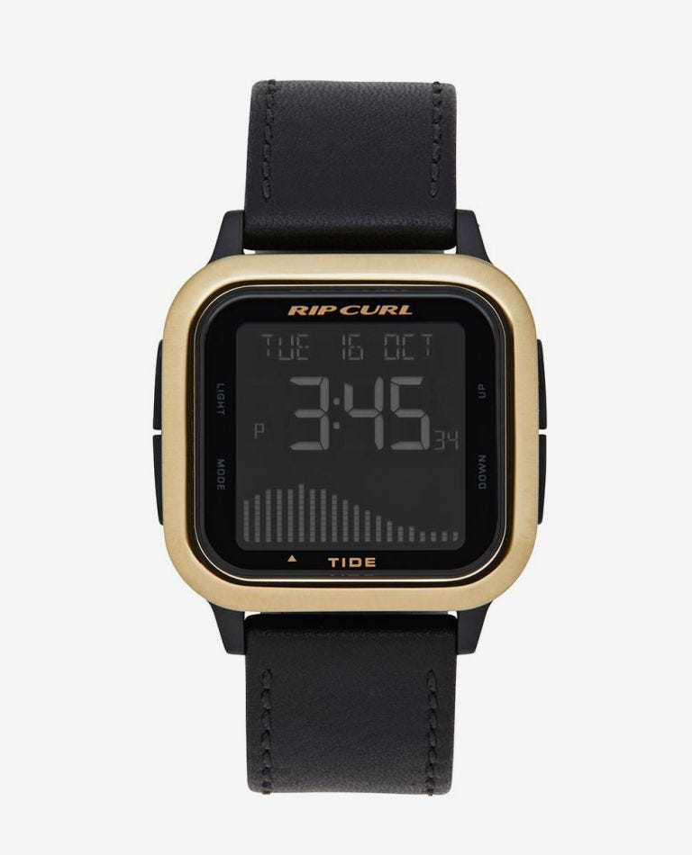 Next Tide Leather Watch in Gold