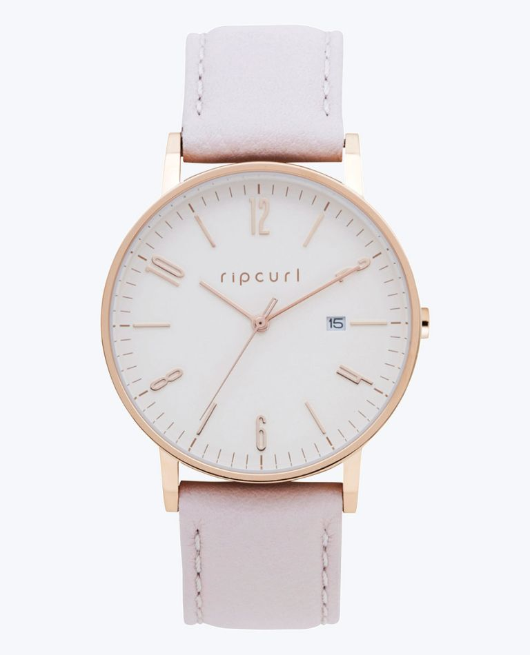 Latch Rose Gold Leather Watch in Pink