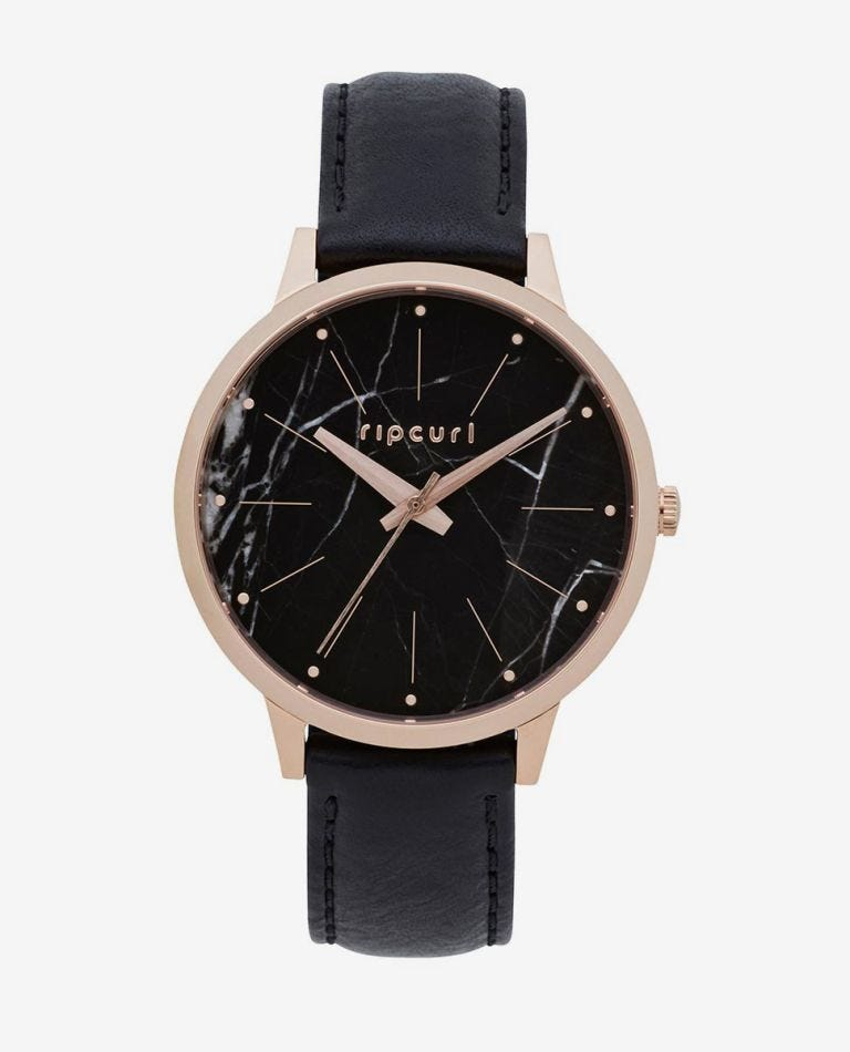 Lola Marble Slim Leather Watch in Marble