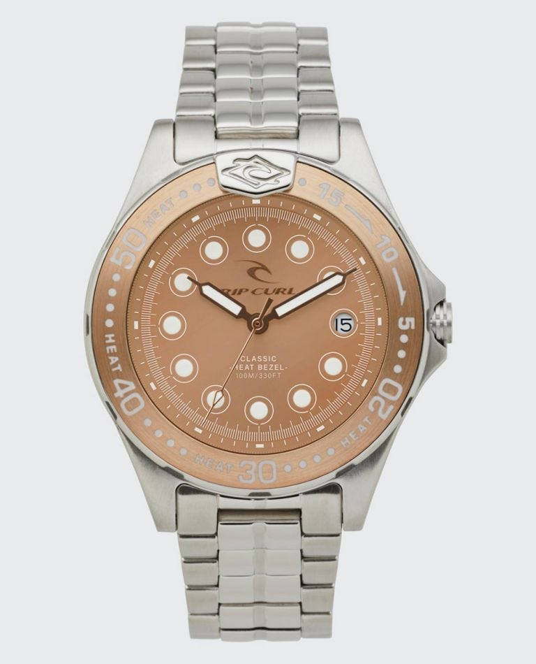 Small Classic Heat Bezel Stainless Steel Watch in Rose Gold
