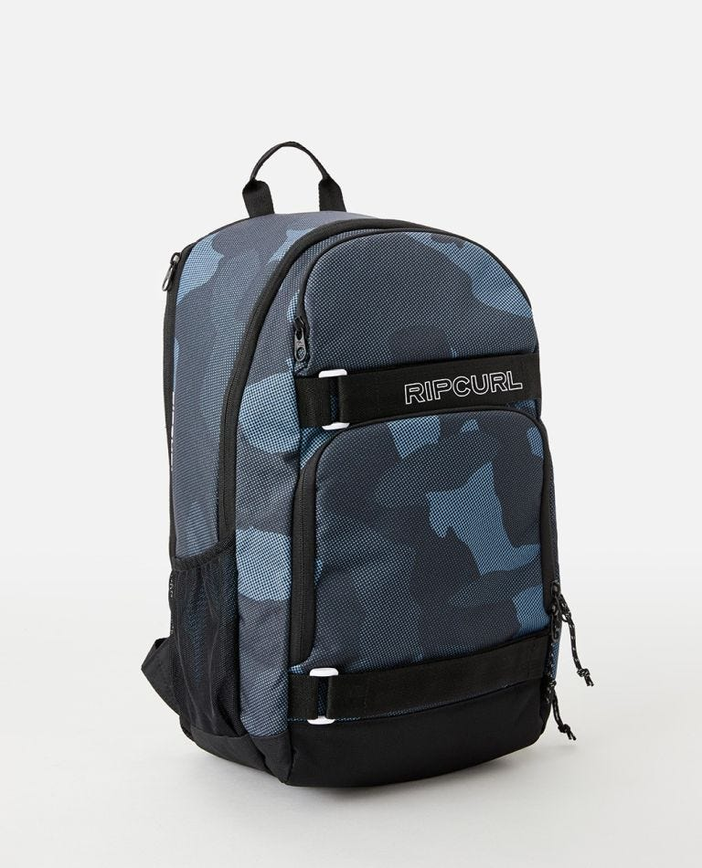 Fader Camo 28L Backpack in Slate Blue