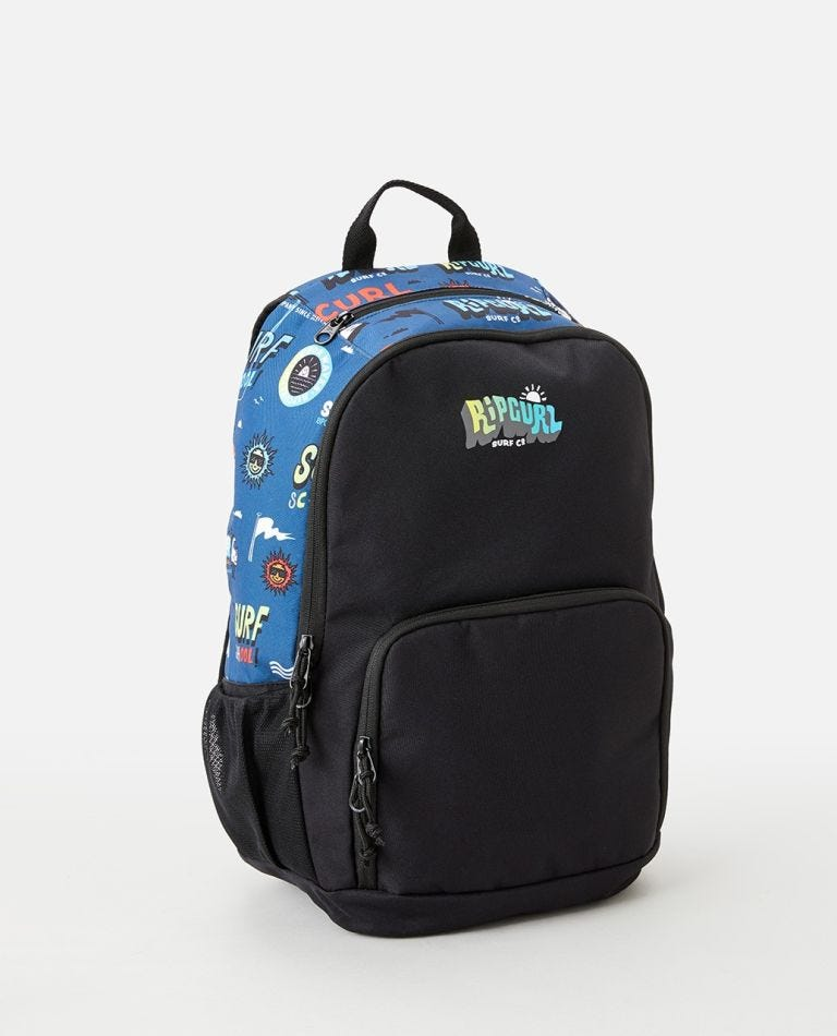 Evo School 24L Backpack in Black/Blue