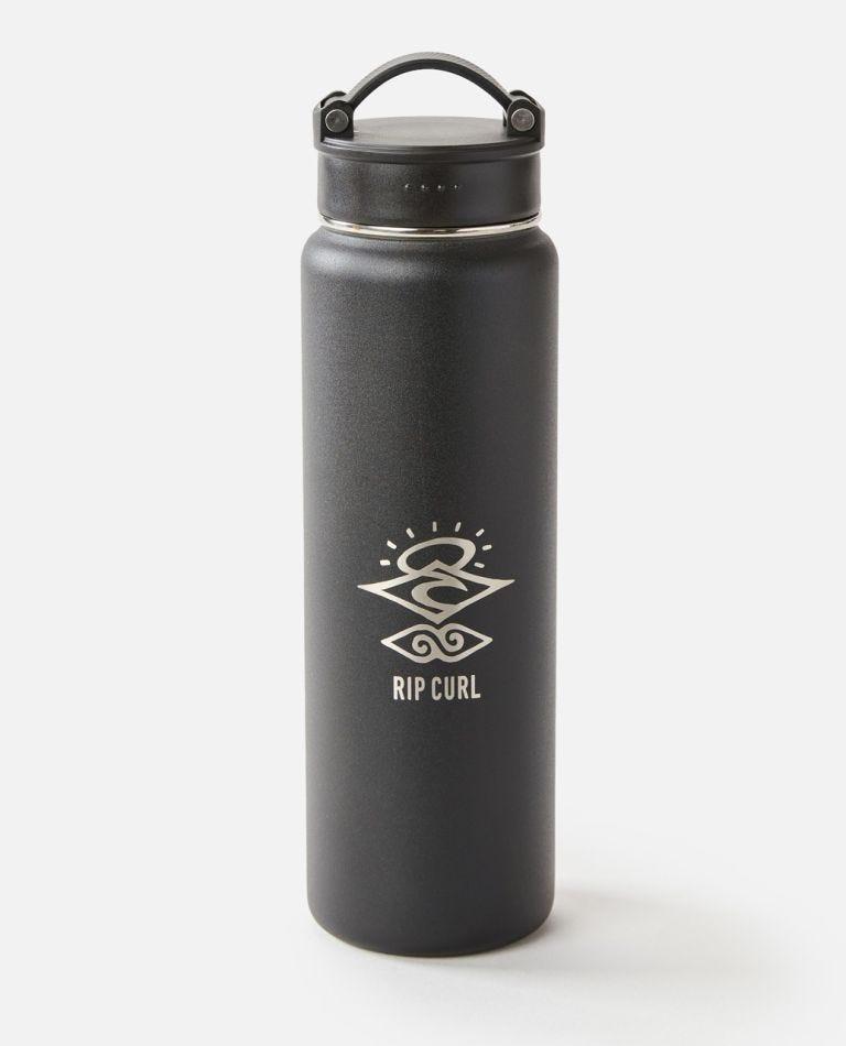 700ml Search Stainless Steel Drink Bottle  in Black