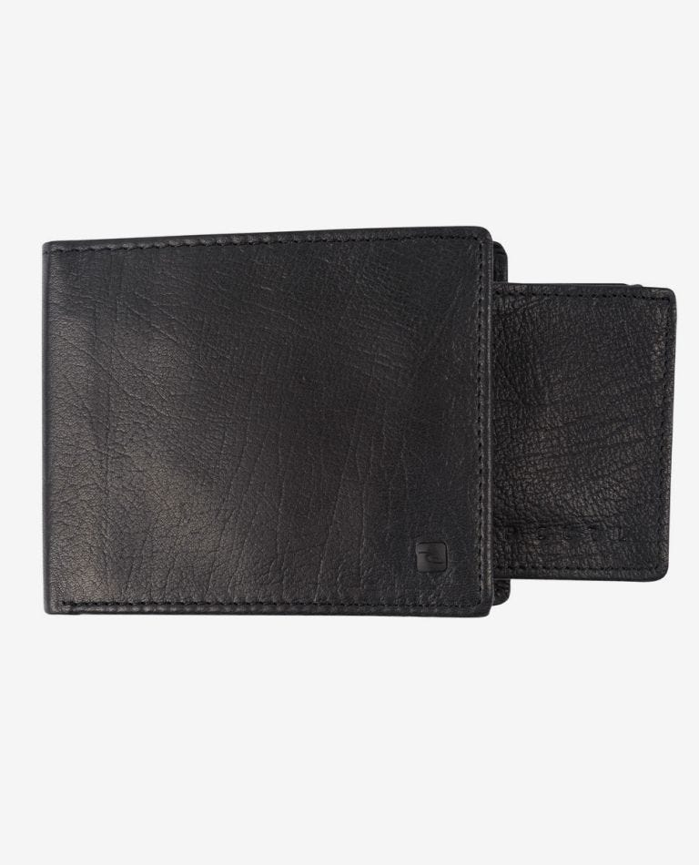K-Roo RFID 2 In 1 Leather Wallet in Black