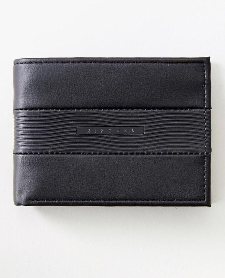 Waves RFID Slim Wallet in Black