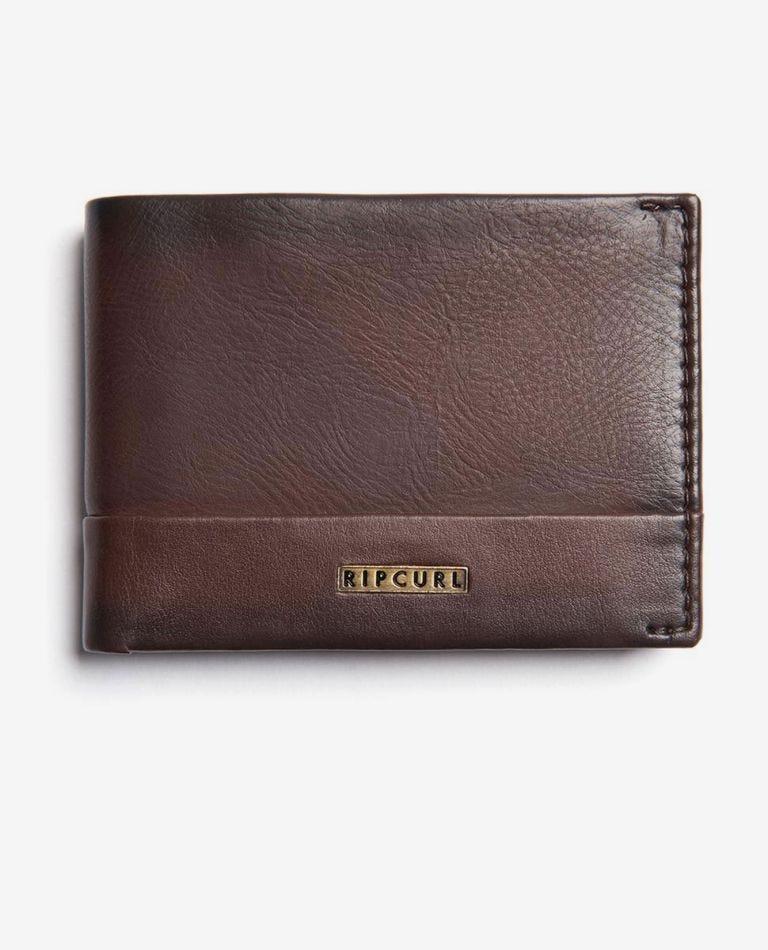 Horizons RFID PU Slim Wallet in Brown