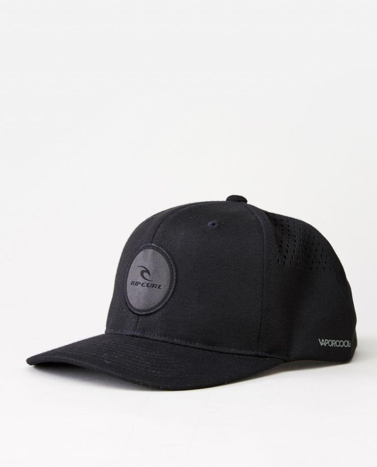 VaporCool Flexfit Snapback Cap in Black