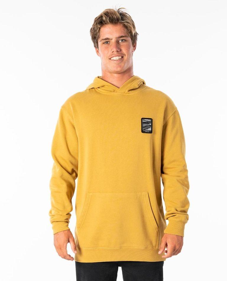 Born At Bells Scenic Hooded Jumper in Mustard