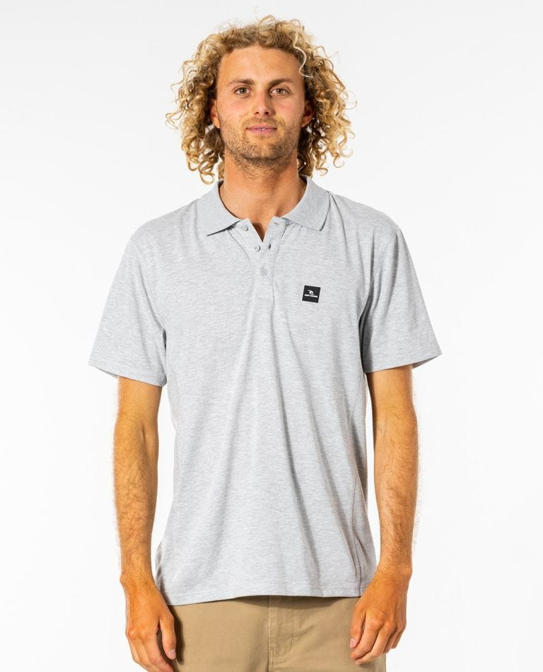 Pivoting VaporCool Polo Top in Grey Marle
