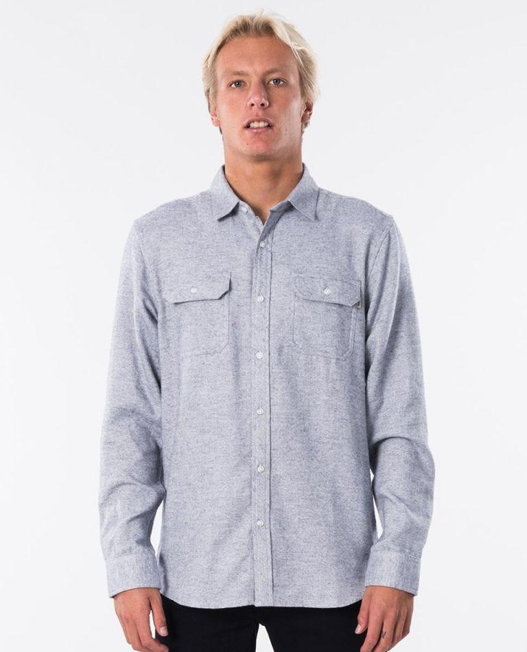 Kodiak Long Sleeve Flannel in Grey