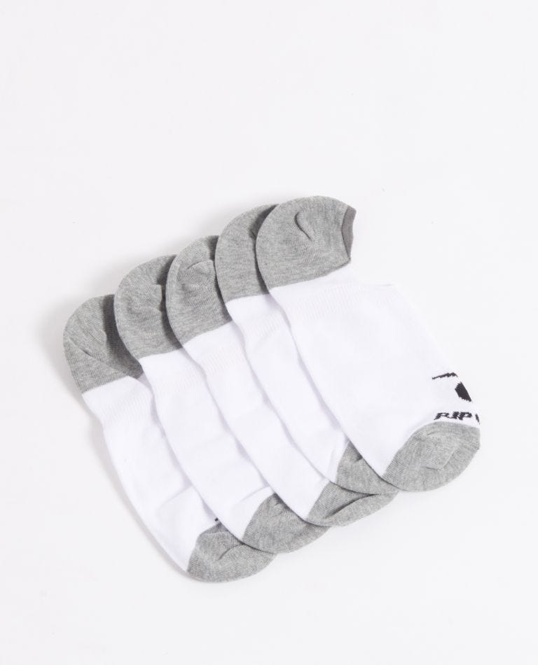 Rip Curl Invisible Sock 5P in White