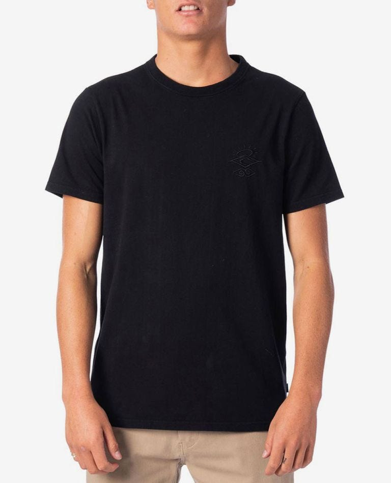 Sea Lice Tee in Washed Black