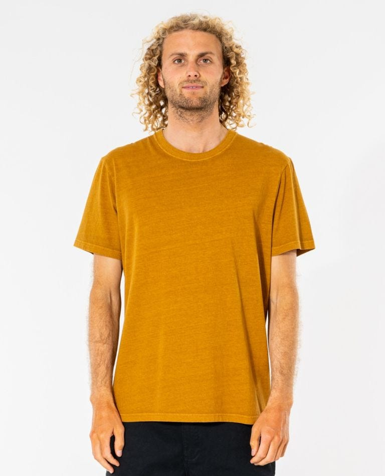 Plain Wash Tee in Gold