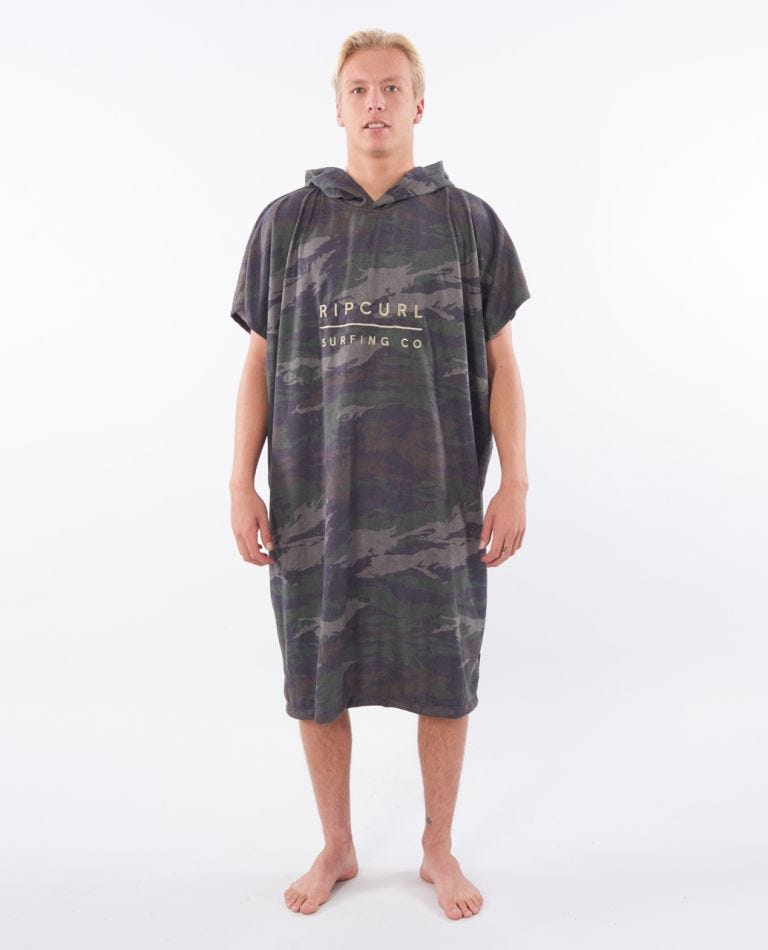 Mix Up Hooded Towel in Green