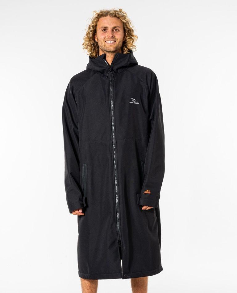 Hooded Anti-Series Poncho in Black
