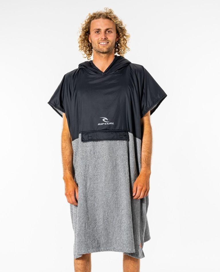 Viral Anti-Series Hooded Towel in Black/Grey