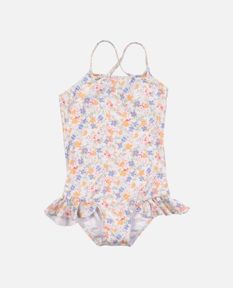Golden One Piece Swimsuit - Girls (0 - 7 years) in Multico