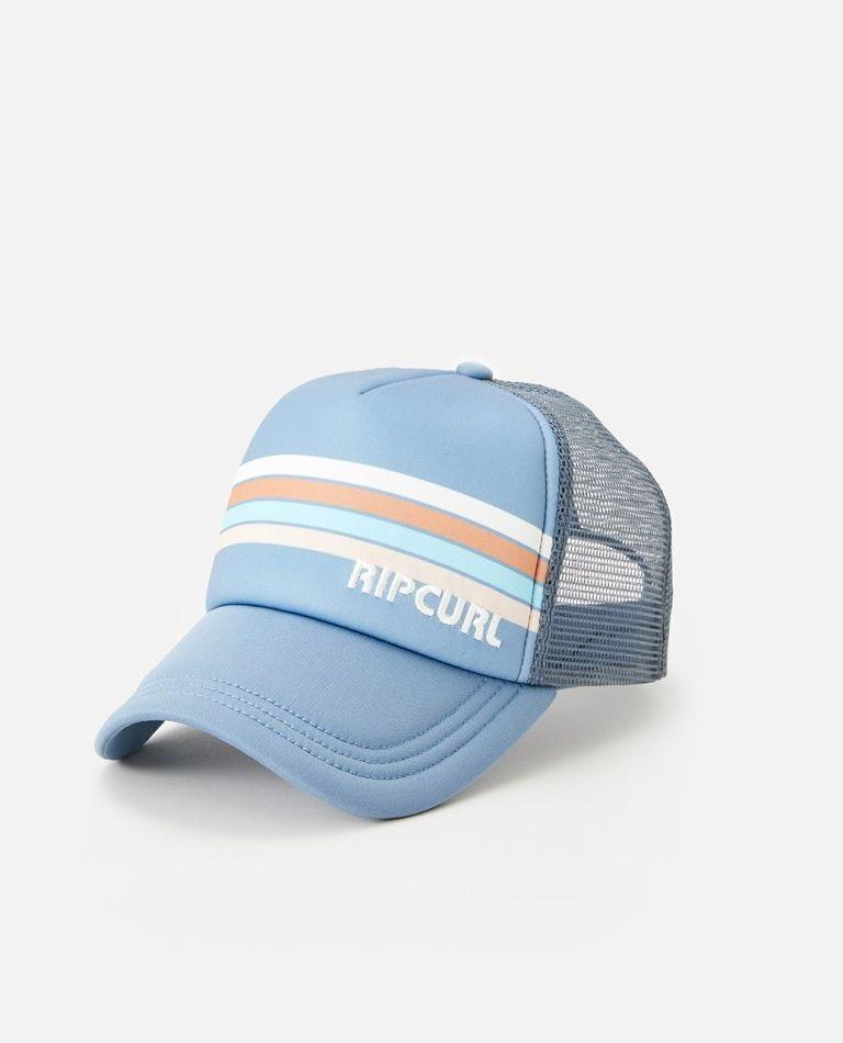 Twin Fin Stripe Trucker Hat in Blue Grey