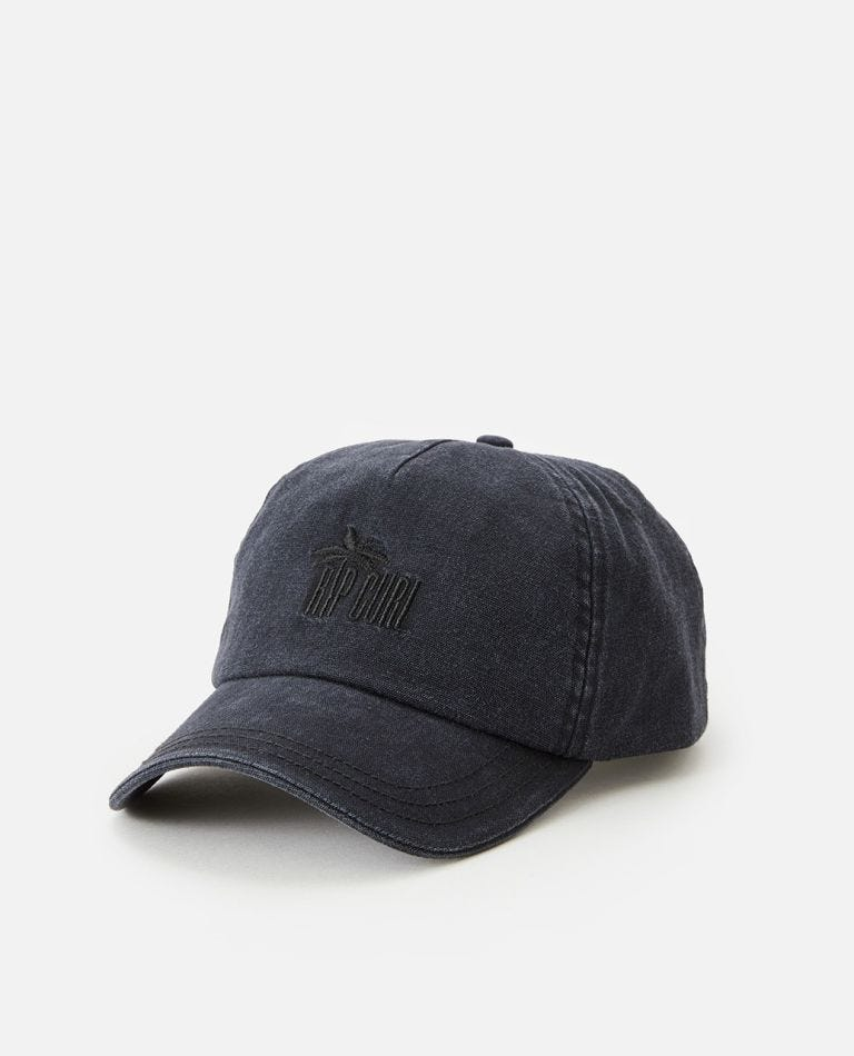 Twin Fin Cap in Washed Black