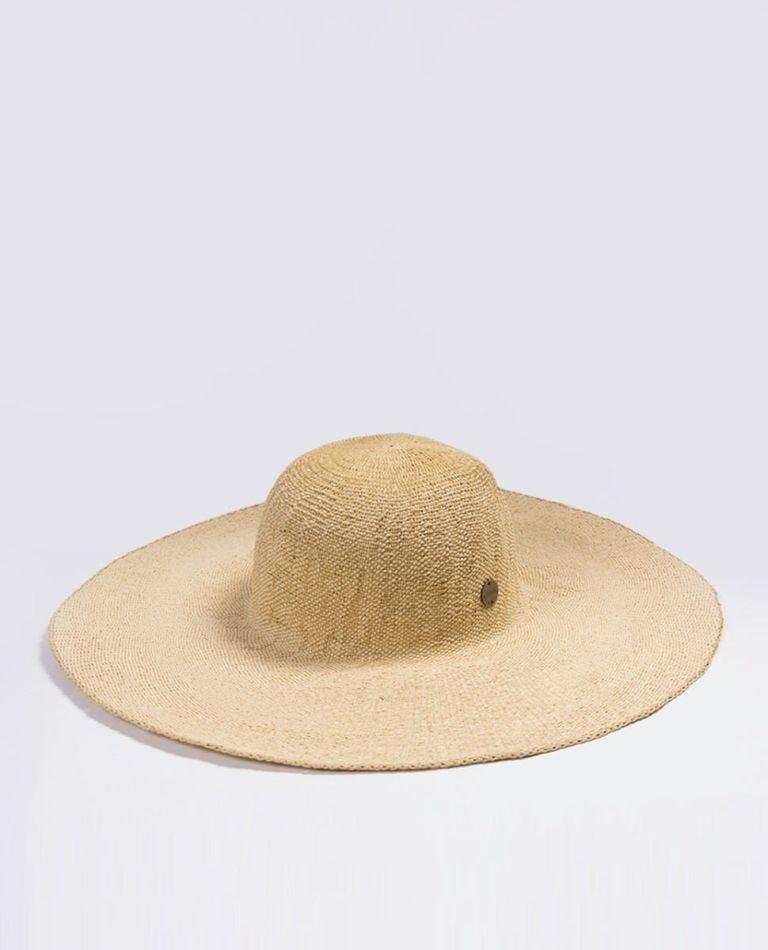 Navy Beach Boho Hat in Natural