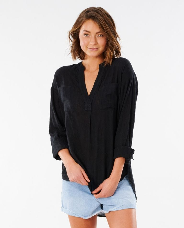 Classic Surf Shirt in Black