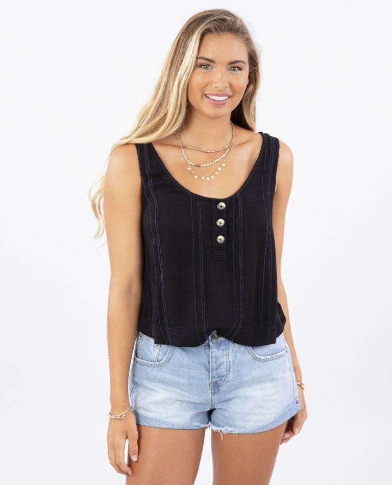Sunrise Cami  in Black