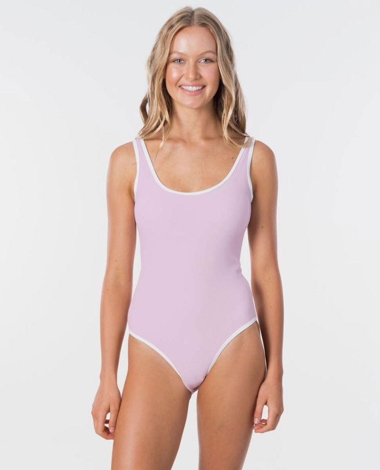 Premium Surf Easy One Piece Swimsuit in Lilac
