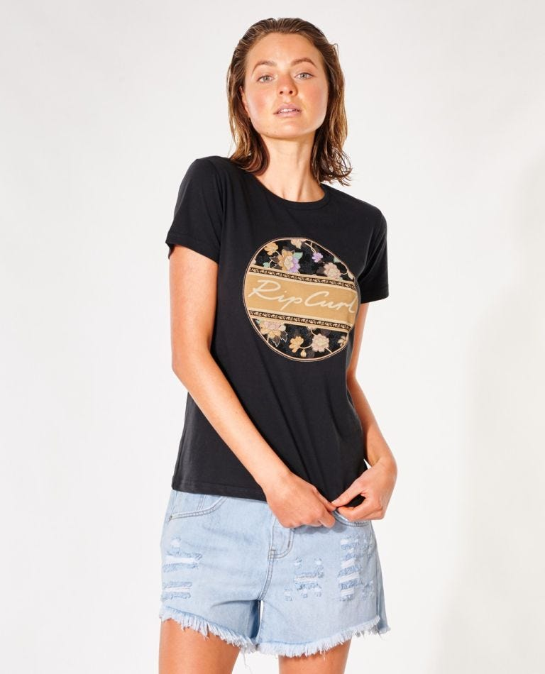 Gypsy Drifter Tee in Washed Black