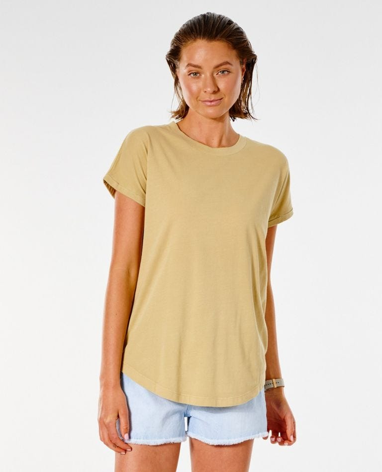 Plains Tee in Gold