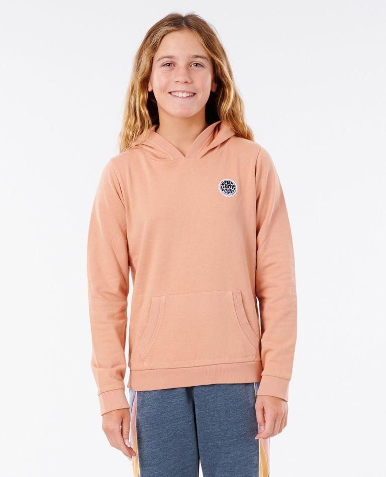 Surfers Original Hood - Girls (8 - 16 years) in Clay