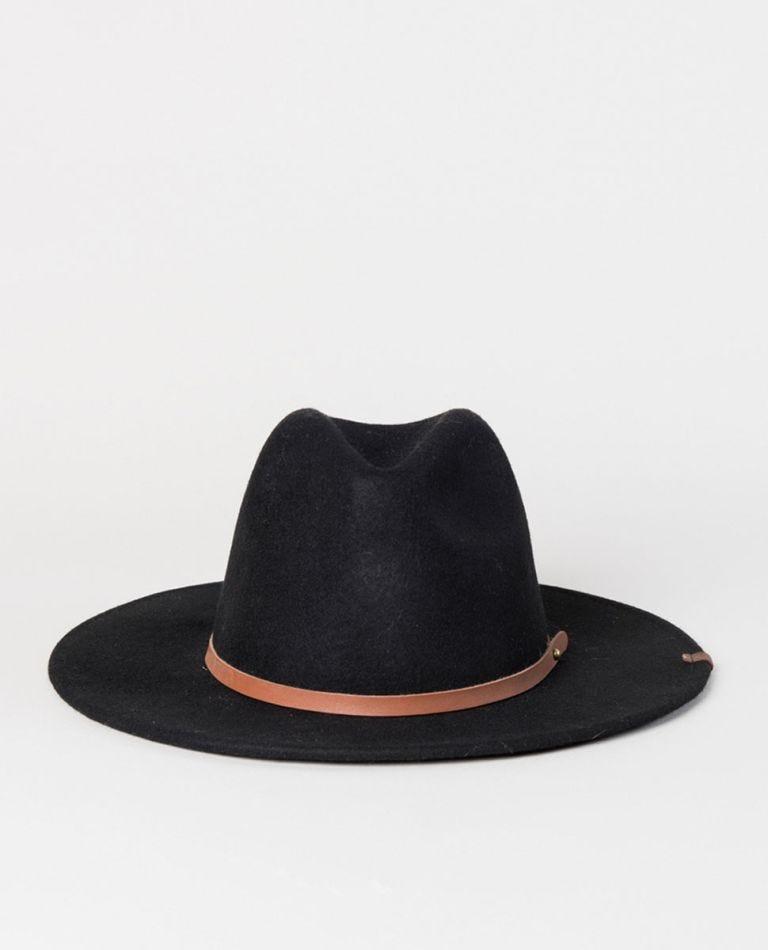 Girl Felt Hat in Black