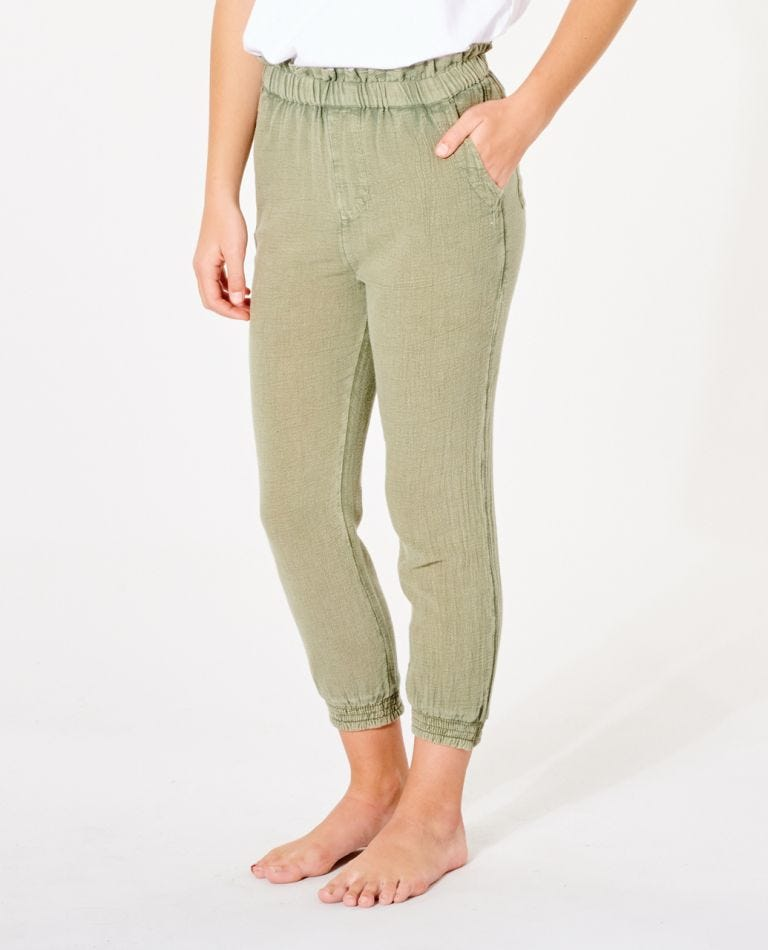 Classic Surf Pant - Girls (8 - 16 years) in Vetiver