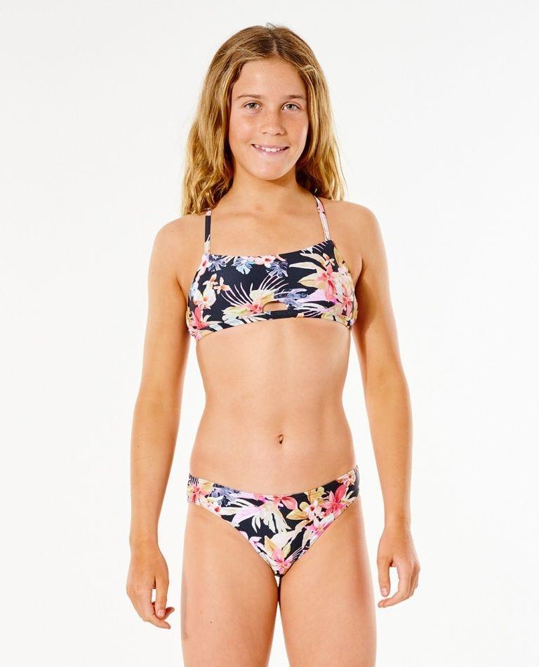 Calliope Spot Bikini - Girl (8-16 years) in Black