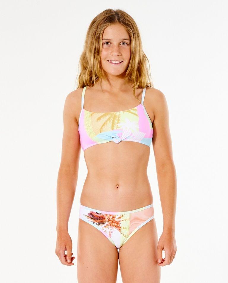 Twin Fin Bikini - Girl (8-16 years) in Pink
