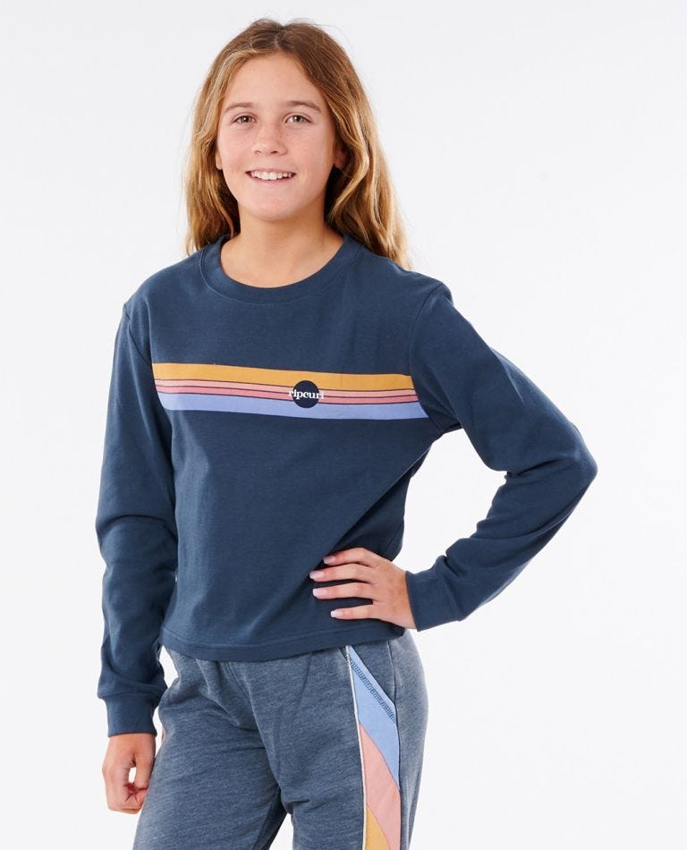 Golden State Long Sleeve Tee - Girls (8 - 16 years) in Navy