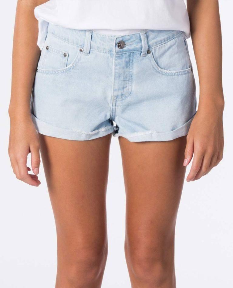 Teen Amy Denim Short in Light Blue