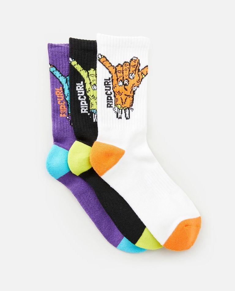 Shaka Sock 3-Pack - Boys in Multico