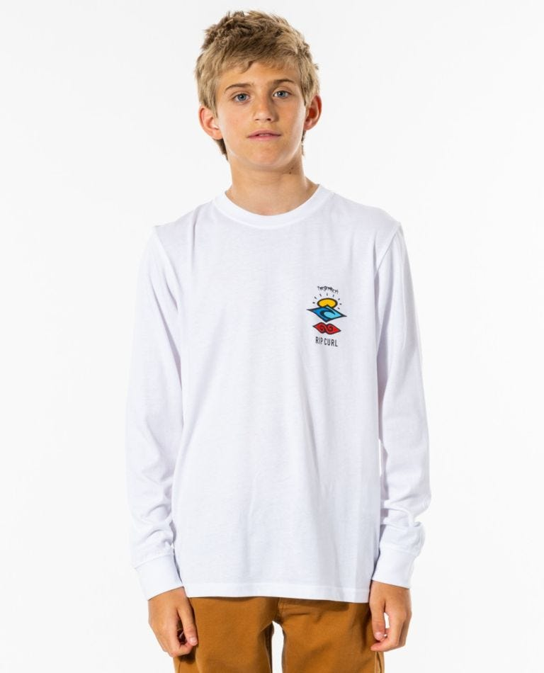 Search Icon Long Sleeve Tee - Boys (8-16 years) in White