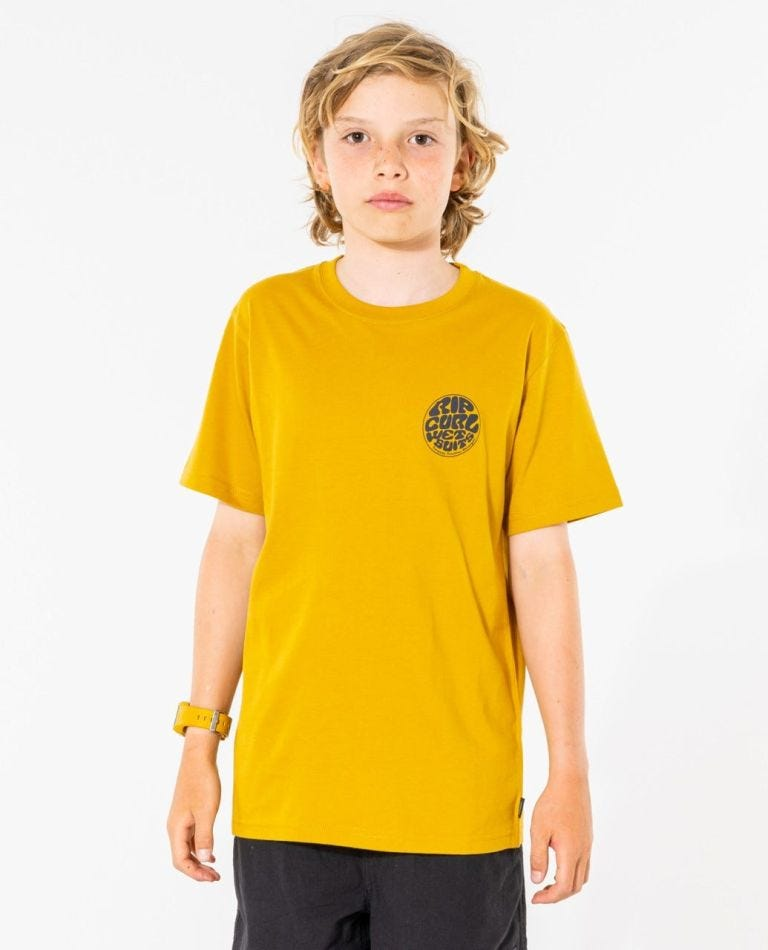 Wetty Essential Tee - Boys (8 - 16 years) in Gold