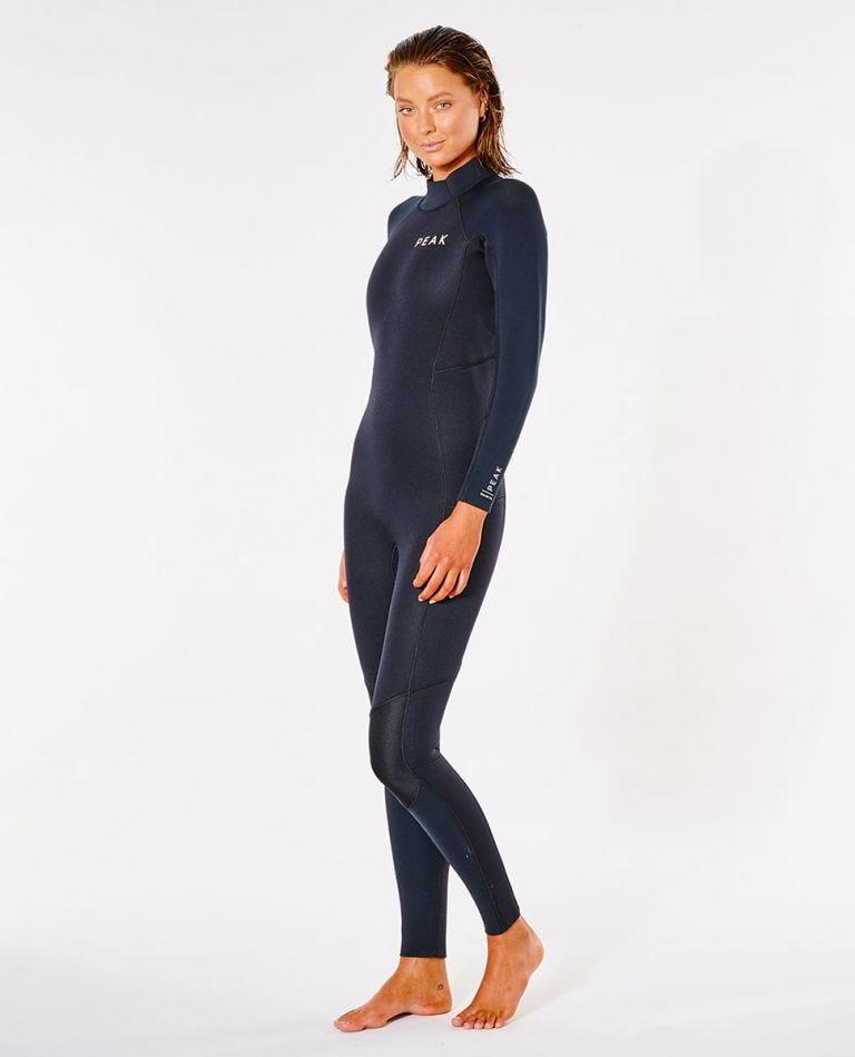 Peak Womens Energy 4/3 GB Sealed Back Zip Wetsuit in Black