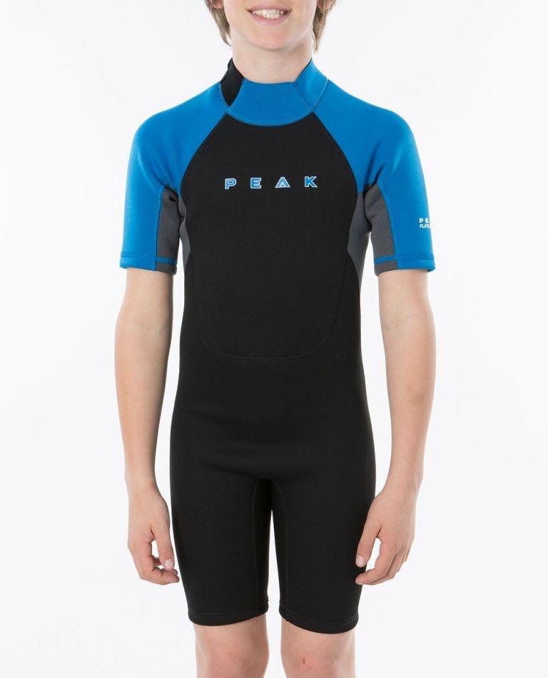 Peak Boys Energy Short Sleeve Wetsuit Spring in Black/Blue